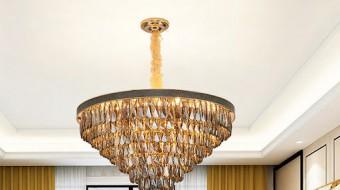 Bí quyết chọn đèn pha lê thả trần phòng khách cho căn hộ