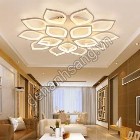 Đèn ốp trần LED 3 chế độ màu 15 cánh A2LH-MN022-15