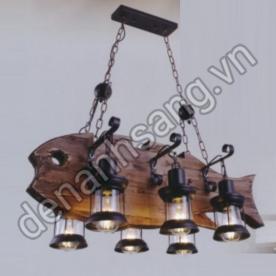 Đèn trùm gỗ trang trí A1G-ST0069/6